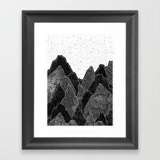 Dark Moon Mounts Framed Art Print