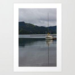 Cloudy seas Art Print