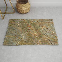Forest Green Marble Rug