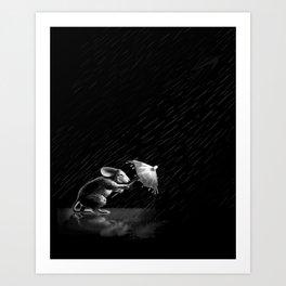 Rain and Sleet Day Art Print