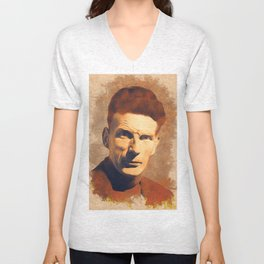 Samuel Beckett, Literary Legend Unisex V-Neck