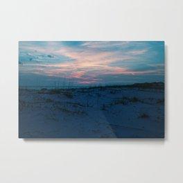 Sand Dunes at Sunset Metal Print