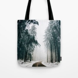 The Winter Trail (Color) Tote Bag