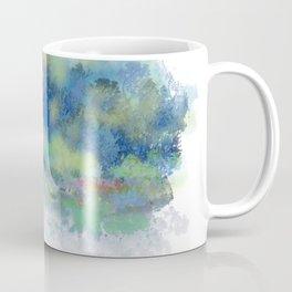 Blue Trees, Yellow Kisses Coffee Mug
