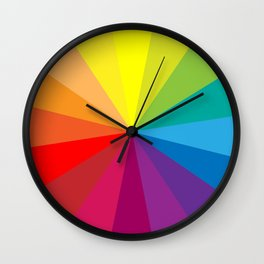 Colour Wheel Clock #1 Wall Clock