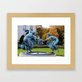 Dancing Nymphs - Den Brandt Castle - Antwerp Framed Art Print
