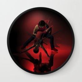 Two Jazz Dancers in Red Wall Clock