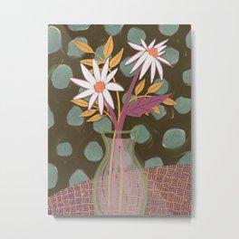 Daisies for You Dark Green Metal Print