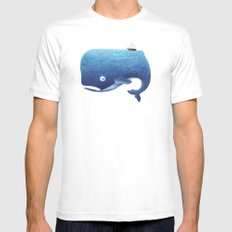 Moby Dick Mens Fitted Tee White MEDIUM