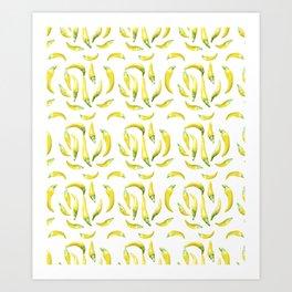 Chilli Pepers Pattern Motif Art Print