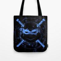 leonardo Tote Bags featuring Leonardo Turtle by Sitchko