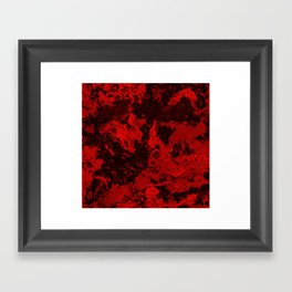 Galaxy in Red Framed Art Print