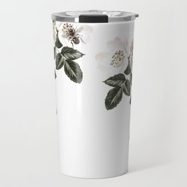 Blackberry Spring Garden - Birds and Bees Floral IV Travel Mug