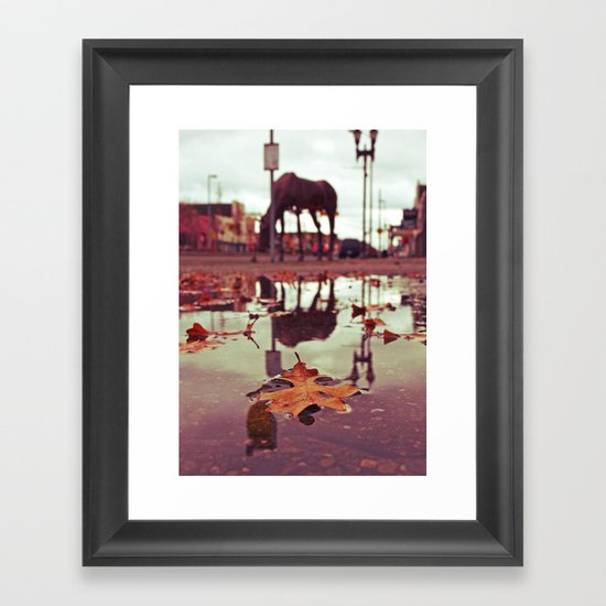 Roadside water Framed Art Print