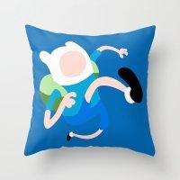 finn Throw Pillows featuring Finn by Polvo