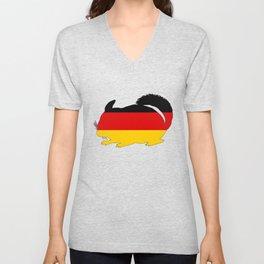 German Flag - Chinchilla Unisex V-Neck