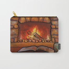 Fireplace (Winter Warming Image) Carry-All Pouch