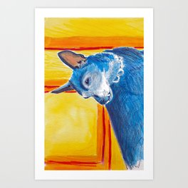 toothy dog Art Print