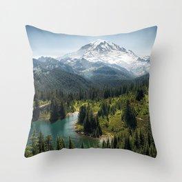 Mountain, Scenic, Rainier, Eunice Lake, National Park, Parks 2016 Throw Pillow