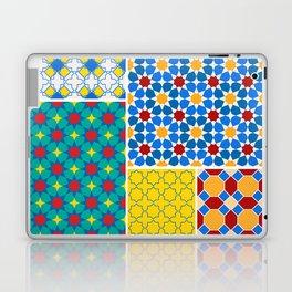 Moroccan pattern, Morocco. Patchwork mosaic with traditional folk geometric ornament. Tribal orienta Laptop & iPad Skin