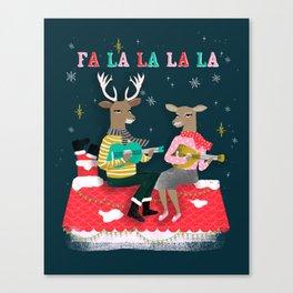 Reindeer Christmas Carols by Andrea Lauren  Canvas Print