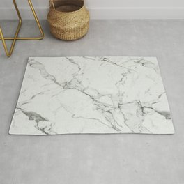White Marble Texture. Rug