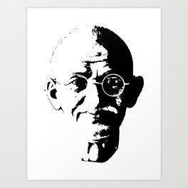 Mahatma Gandhi Minimalistic Pop Art Art Print