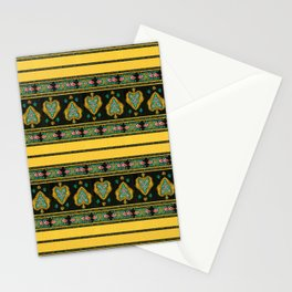 Persian Tapestry Yellow Stationery Cards