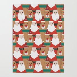 Christmas is Coming (Patterns Please) Poster