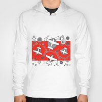 airplanes Hoodies featuring airplanes in red by Isabella Asratyan