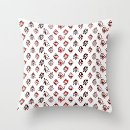 Sawdust Deck: The 10 of Diamonds Throw Pillow