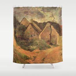 Paul Gauguin - Osny, Stormy Weather (1883) Shower Curtain