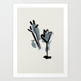 a tulip and a thistle Art Print