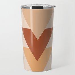 Southwestern Geometric Minimalist 2 in Earth Tones Travel Mug