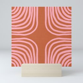 sahara stripes Mini Art Print
