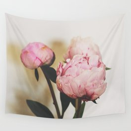 Pale Peonies Wall Tapestry
