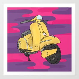 Scooter Art Print
