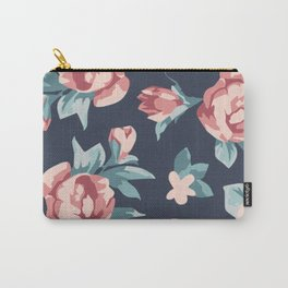 Vitage Roses Carry-All Pouch