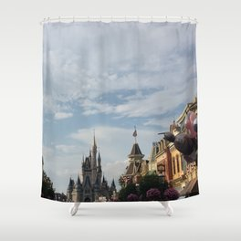 The Happiest Place Shower Curtain