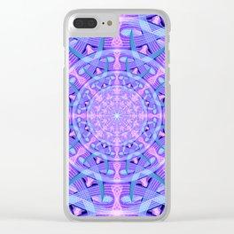 Temporal Warp Mandala Clear iPhone Case