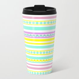 Bright striped pattern Metal Travel Mug