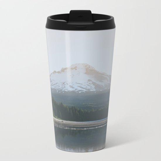 Trillium Lake Sunrise Metal Travel Mug