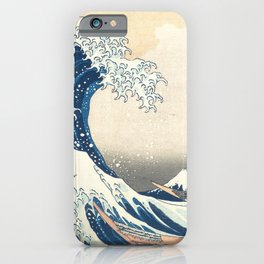 """""""The Great Wave off Kanagawa"""" by Hokusai, 1831 iPhone Case"""