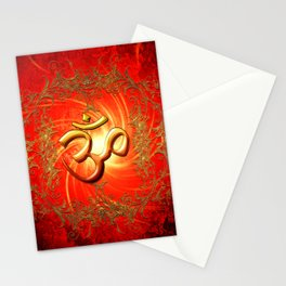 Om sign Stationery Cards