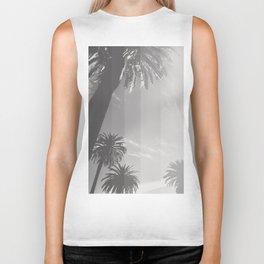 Black and White Palm Biker Tank