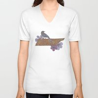 tennessee V-neck T-shirts featuring Hello Tennessee by Valentina Harper