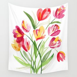 Bouquet of Tulips Wall Tapestry