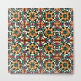 Mandala artwork, Colorful mandala flowers No4 Metal Print