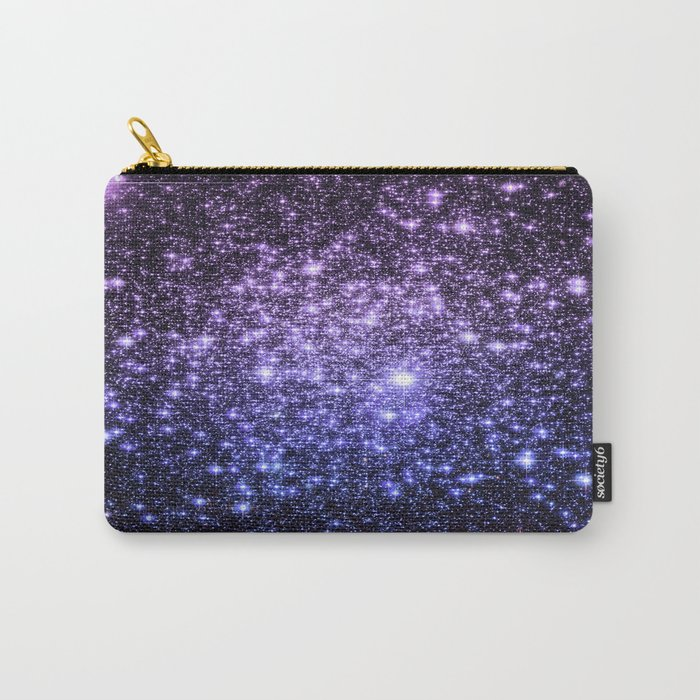 Galaxy Sparkle Stars Purple Periwinkle Blue Carry-All Pouch