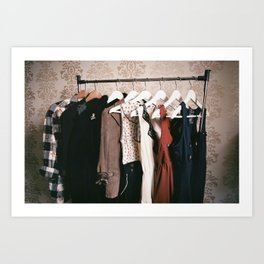 You can never get a wardrobe large enough Art Print